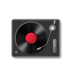 realistic 3d detailed retro vinil record player vector image