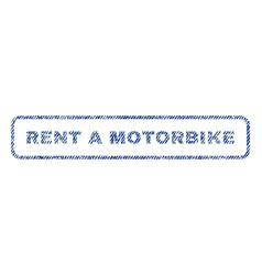 Rent a motorbike textile stamp vector