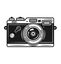 Retro photo camera vintage object isolated vector