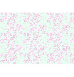 Sakura flowers pattern vector image