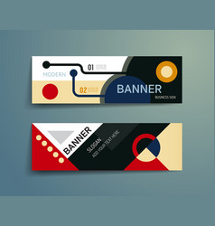 Set of banner template designgraphic or website vector
