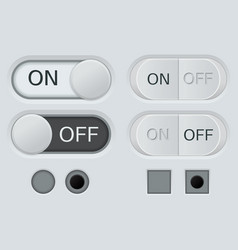 set off and on buttons user interface vector image
