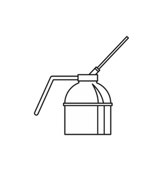 Spout oiler can applicator icon outline style vector image