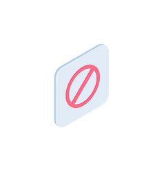 stop isometric icon vector image