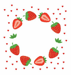 strawberries greeting card vector image