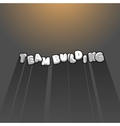 Team building title background with long shadow vector