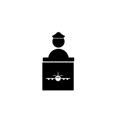 ticket checkpoint icon element of travel icon for vector image