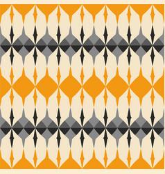 Tile grey black and orange pattern vector