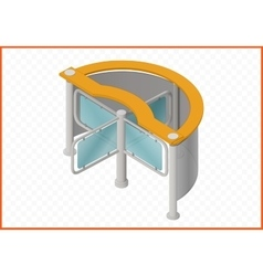 Turnstile isometric perspective view vector