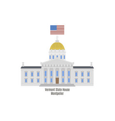 vermont state house vector image