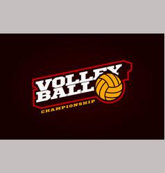 Volleyball mascot modern professional sport vector