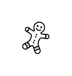 web line icon christmas gingerbread black vector image