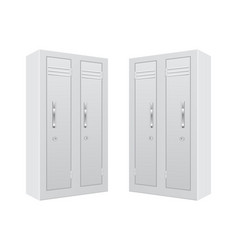 White personal locker vector