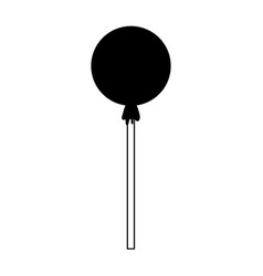 wrapped lollipop candy icon image vector image