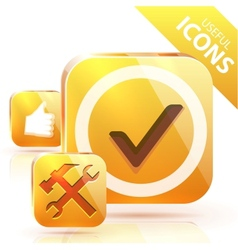 yellow buttons vector image