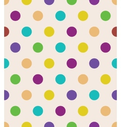Beige polka dot seamless pattern vector image vector image