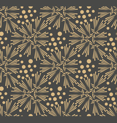 Dandelion flower seamless pattern vector