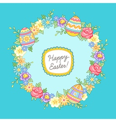 Easter wreath vector image vector image