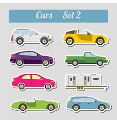 Set of elements passenger cars for creating your vector image vector image