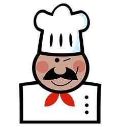 Winking Black Chef vector image