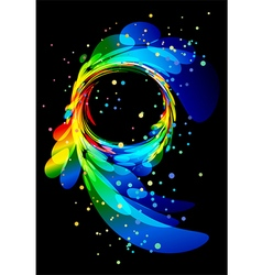 Abstract element on black background vector image vector image
