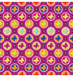 Butterfly pattern art vector image vector image