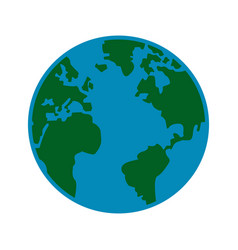 global earth map world geography image vector image