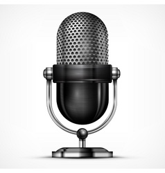 Microphone on white vector image