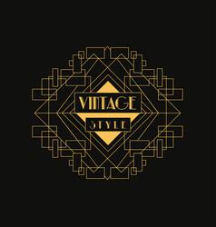 retro style logo vintage luxury minimal geometric vector image