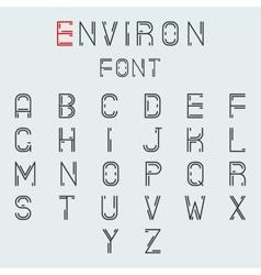 Simple line abstract retro alphabet a to z minimal vector
