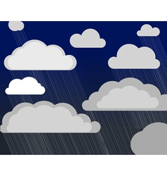 Storm clouds vector image vector image