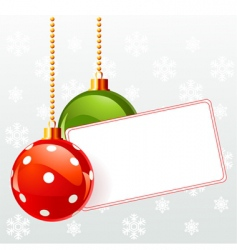 blank label with Christmas decoration vector image vector image