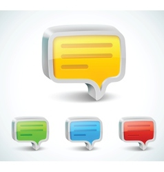 colorful 3d bubble speech icon vector image