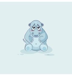 Emoji character cartoon hippopotamus embarrassed vector