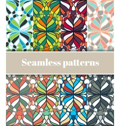 Floral Seamless Patterns Set vector image vector image