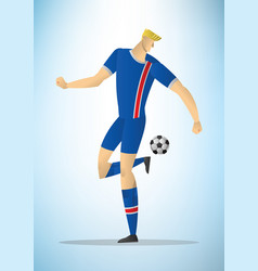 football player 10 vector image vector image