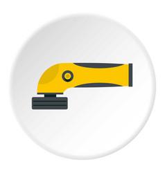 grinder machine icon circle vector image