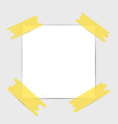 note papers blank paper with yellow sticker vector image
