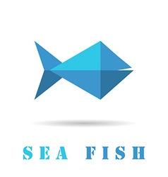 Fish geometric icon vector image vector image