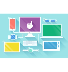 Flat design vector image vector image