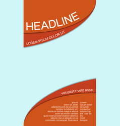 leaflet template with place for your image vector image