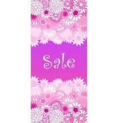 Sale concept background Word SALE made of pink vector image vector image