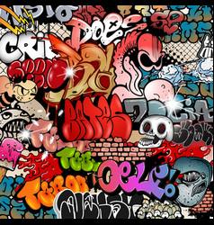seamless graffiti pattern vector image