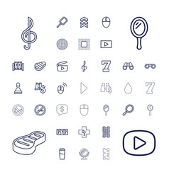 37 reflection icons vector