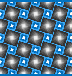 abstract seamless geometrical pattern blue vector image