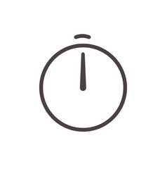 alarm clock arrow line icon stopwatch timer clock vector image
