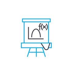 algebra lesson linear icon concept algebra lesson vector image