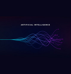 artificial intelligence ai and deep learning vector image