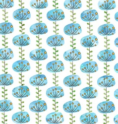Beautiful blue flower background vector image
