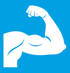 biceps icon white vector image